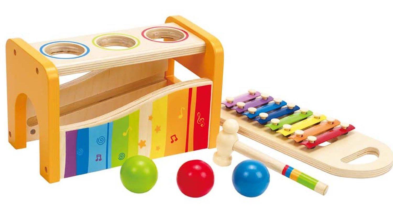 hape-e0305-xylophon-und-hammerspiel, Babyspielzeug